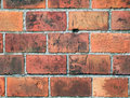 Red bricks in wall