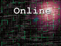 Online Abstract Programming Code Background Pattern With Grid