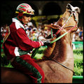 Racing Jockey on horse