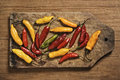Assorted bolivian chili peppers