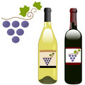 Grape vineyard symbol with red