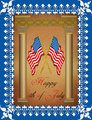 Greeting Card - 4th July