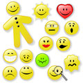 Smiley Face Button Emoticon Family