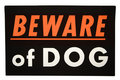 Beware of dog.