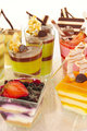 Assorted colorful desserts