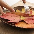 Fall leaf concept.