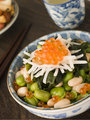 Broad Bean Daikon and Salmon Roe