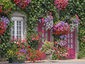 Le Haut de la Lande, House with flowers, Brittany, Northern France