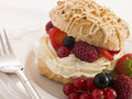 Choux Bun filled with Mixed Berries and Chantilly Cream