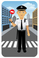 Police traffic officer