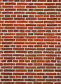 Modern dark red brick wall
