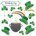 St Patrick holiday objects