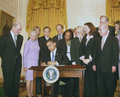 President Barak Obama signs historic executive order for stem cell research.