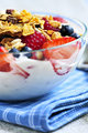 Yogurt with berries and granola