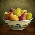 Bowl of Mixed Pears
