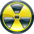 Glossy shint radiation symbol icon
