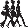 Silhouette of three girls