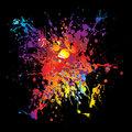 Gothic grunge rainbow splat, rainbow paint splatter