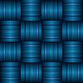 Blue stripe weave