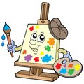Cartoon canvas artist