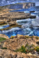 Waves Crashing on The Shore of Gozo