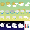 Retro weather icons