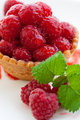 Delicious fresh raspberry tart