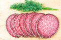 Peppered salami with dill