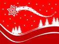 A red Christmas background vector illustration