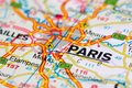 Road map around Paris