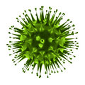 Virus closeup under microscope
