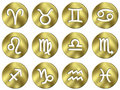 3D Golden Zodiac Signs