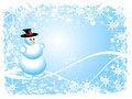 Grunge Snowman Christmas Scene