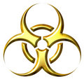 3D Golden Biohazard Symbol