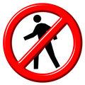 Do Not Enter 3d sign