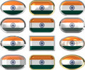 12 buttons of the Flag of India