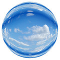 Blue sky orb ball bubble