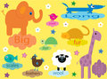 Collection of educational animals for small children