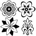 Vintage floral decorative elements
