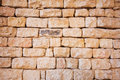 Natural stone brick wall