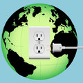 ENERGIZE EARTH electric plug in outlet Energy Globe