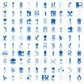 100 blue icons