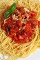 Spaghetti al Pomodoro vertical