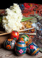Russian easter eggs and pallet
