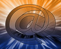 At internet symbol