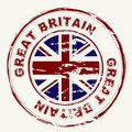 Great britain grunge ink stamp