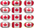 Twelve buttons of the Flag of Canada
