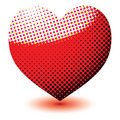 Halftone love heart