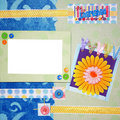 Scrapbook photo frame