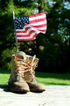 Boots with US flag